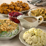Thanksgiving side dishes stock photography