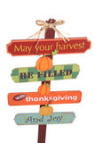 Thanksgiving Sign Stock Photos