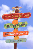 Thanksgiving Sign stock image