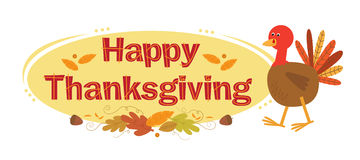 Thanksgiving Sign With Background Royalty Free Stock Image