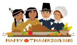 Happy Thanksgiving Pilgrim Royalty Free Stock Photo