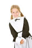 Thanksgiving: Smiling Girl Pilgrim On White Stock Images
