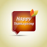 Thanksgiving speech bubble Royalty Free Stock Images