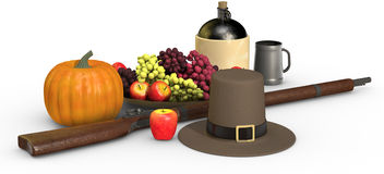 Thanksgiving Still Life on White Stock Photo