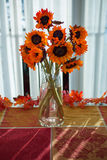 Thanksgiving Sunflowers Stock Images