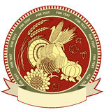 Thanksgiving symbol with holiday objects. Royalty Free Stock Photos