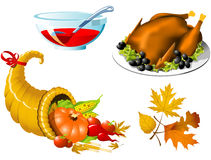 Thanksgiving Symbols Stock Photo