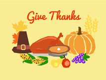 Thanksgiving symbols Royalty Free Stock Images