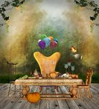 Thanksgiving table Royalty Free Stock Image