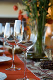 Thanksgiving Table. A Thanksgiving table setting evokes the holiday spirit Stock Photo