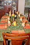 Thanksgiving Table. A table beautifully set for thanksgiving royalty free stock image