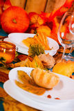 Thanksgiving table Stock Photography