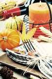 Thanksgiving table setting Stock Images