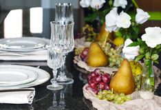 Thanksgiving table setting. Autumn table setting Royalty Free Stock Images