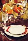 Thanksgiving table setting Stock Image