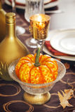 Thanksgiving table setting decoration Stock Photos