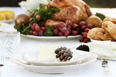 Thanksgiving Table Setting Royalty Free Stock Photos