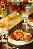 Thanksgiving table setting. stock photography