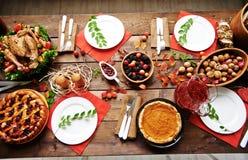 Thanksgiving table Stock Photos