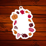 Thanksgiving Tag Stock Photography