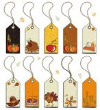 Thanksgiving Tags Stock Images