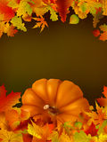 Thanksgiving template with copy space. EPS8. Royalty Free Stock Photo