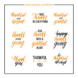 Thanksgiving text set Stock Images
