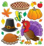Thanksgiving theme collection 1 vector illustration