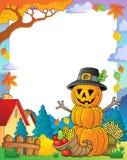 Thanksgiving theme frame 3 Royalty Free Stock Image