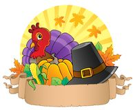 Thanksgiving theme parchment 3 Royalty Free Stock Photo