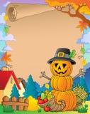 Thanksgiving theme parchment 6 Royalty Free Stock Photo