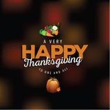 Thanksgiving très heureux sur le fond brouillé Image libre de droits