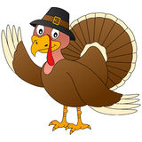Thanksgiving Turkey. A funny cartoon Thanksgiving turkey, isolated on white background. Eps file available