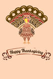 Thanksgiving turkey. A vector illustration of a Thanksgiving background with turkey design Stock Photo