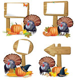 Thanksgiving turkey board Royalty Free Stock Photo