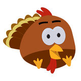 Thanksgiving Baby Turkey Cartoon Royalty Free Stock Photos