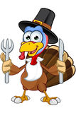 Thanksgiving Turkey Character Stock Photos