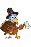 Thanksgiving Turkey Character Stock Images
