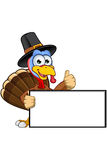 Thanksgiving Turkey Character Royalty Free Stock Photos