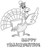 Thanksgiving Turkey  Coloring Page Royalty Free Stock Images