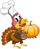 Thanksgiving Turkey Cook Chef Pumpkin Royalty Free Stock Photography