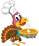 Thanksgiving Turkey Cook Chef Pumpkin Pie Royalty Free Stock Photo