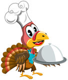 Thanksgiving Turkey Cook Chef Serving Tray Royalty Free Stock Image