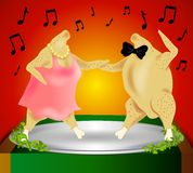 Thanksgiving Turkey Dance royalty free stock photo