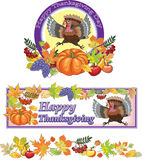 Thanksgiving, turkey, day, background, holiday. Posters on the day of Thanksgiving with congratulations Stock Photography
