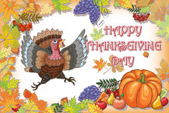 Thanksgiving, turkey, day, background, holiday. Posters on the day of Thanksgiving with congratulations Royalty Free Stock Image