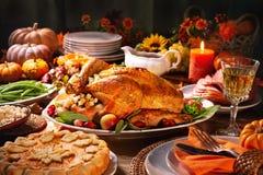 Free Thanksgiving Turkey Dinner Royalty Free Stock Photography - 127581137