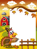 Thanksgiving Turkey Frame Royalty Free Stock Image