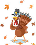 Thanksgiving Turkey Funny Vector Cartoon Stock Image