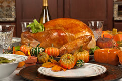 Thanksgiving. Turkey and green beans Royalty Free Stock Photography